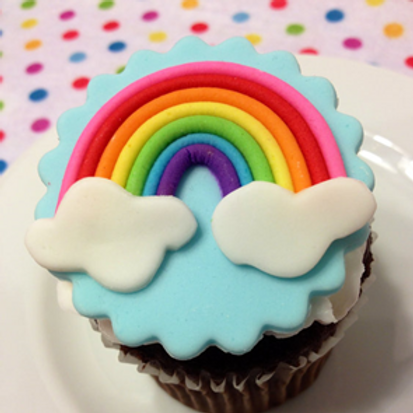 Ready Made - Rainbow Design Fondant Edible Toppers