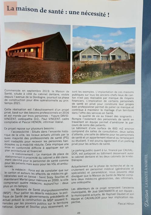 La gazette martelaise - maison de santé
