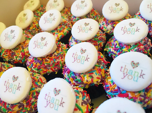 Thank you with sprinkles