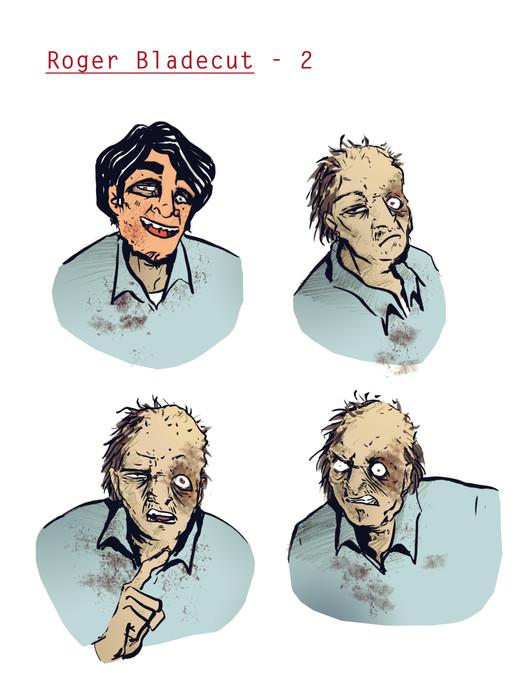 Roger Bladecut, Expressions