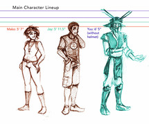 Character Sheet, Full Line Up
