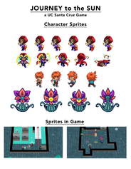 Journey To The Sun, Character Sprites.