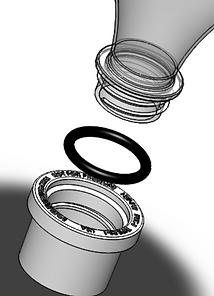soda bottle to pipe adapter bushing