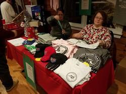Joyce & Judy selling raffle tickets