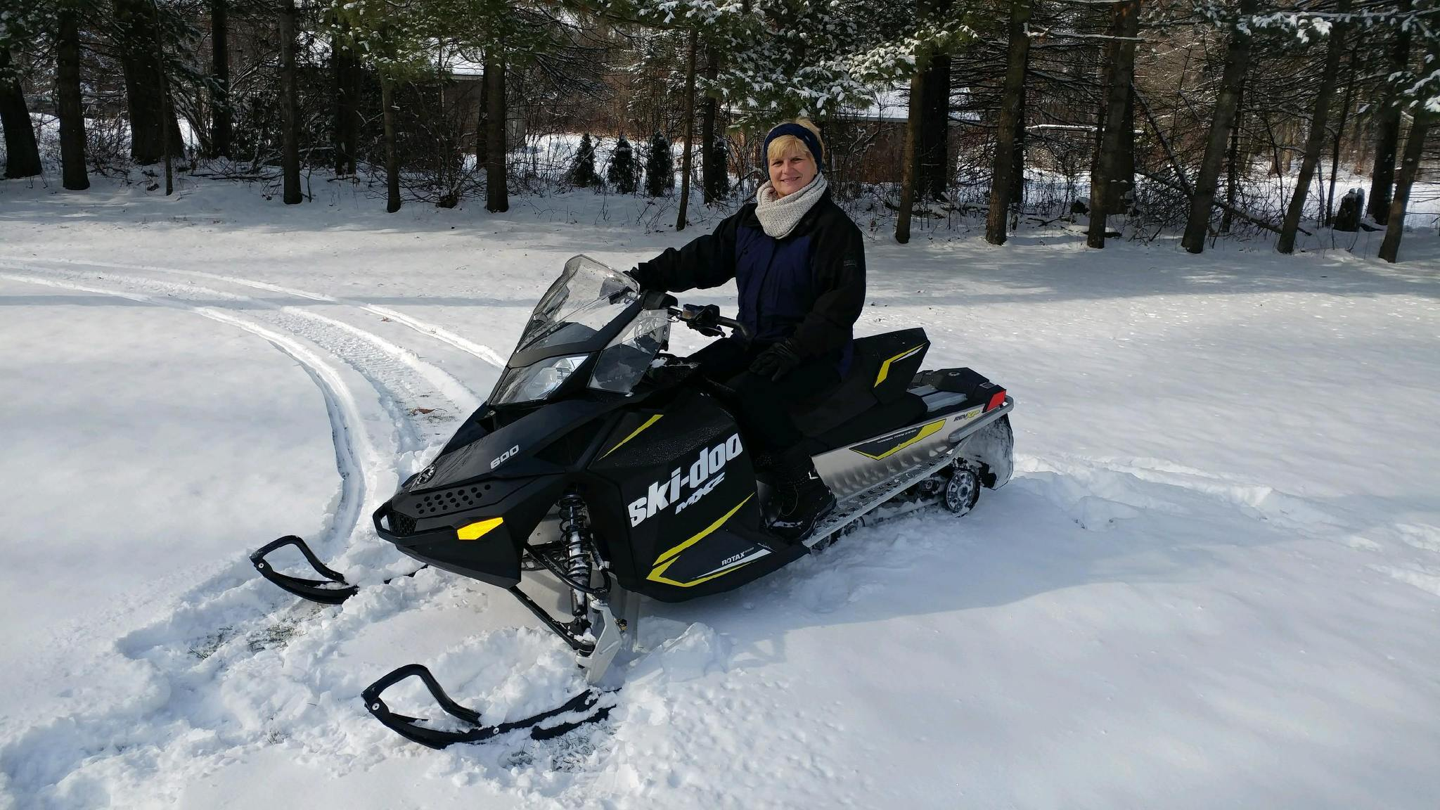 Donna and their new Ski-Doo