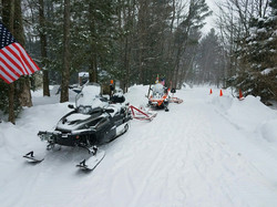 The Sled Groomers scoured the route