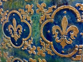 Detail, Gold Fleurs-de-lys