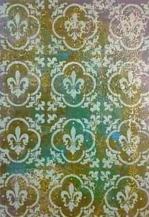 Fading Gold Fleurs-de-lys