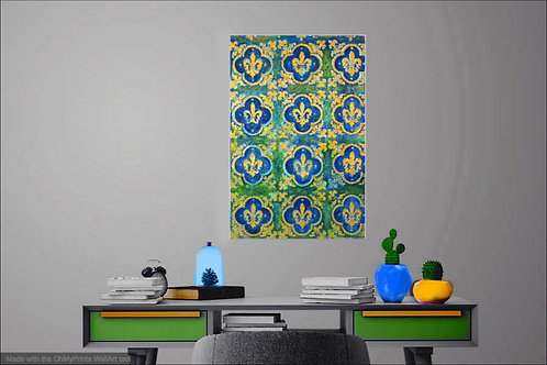 Gold Fleurs-de-lys on OId wall