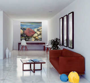 artwork in a room setting