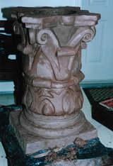 Clay Pedestal in Progress