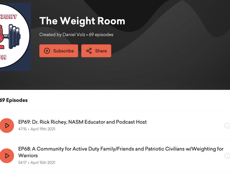 A Community For Active Duty Family/Friends: Our Episode With The Weight Room Podcast