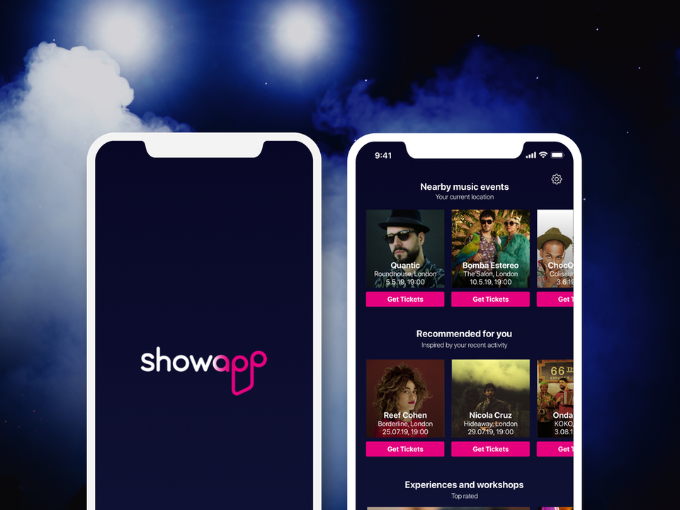 Showapp - music events app