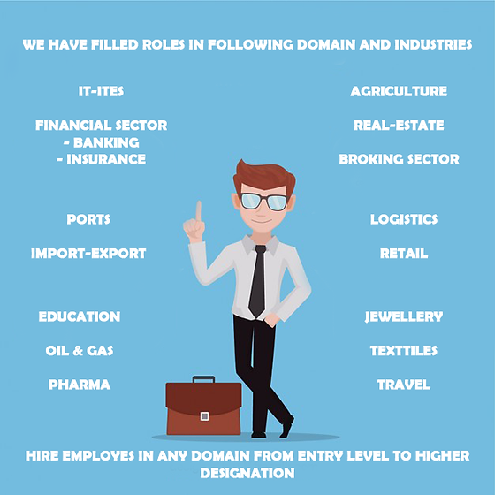 We have filld roles inall Industries from IT to Non-IT, from technical to non-technical.