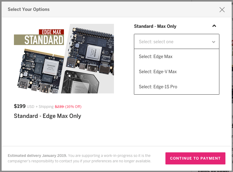 "For example, if you click on ""Standard - Edge Max Only"", you will have the option to select ""Edge Max"", ""Edge-V Max"", or ""Edge-1S Pro""."