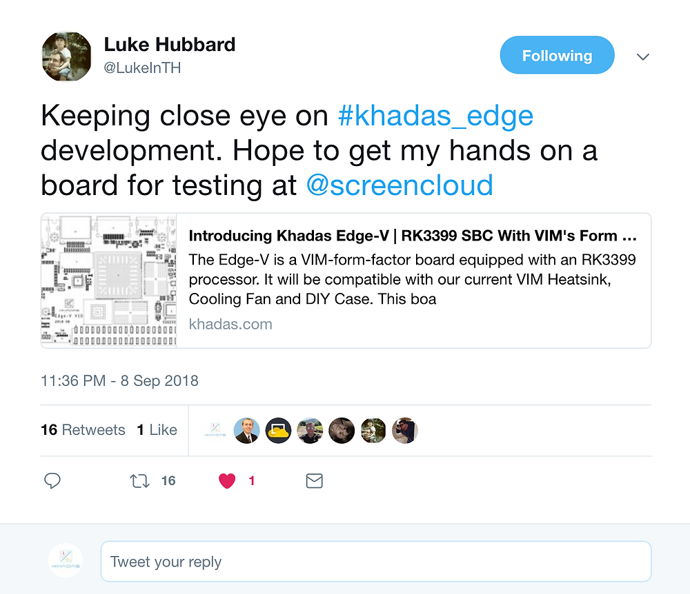 Luke Hubbard wins the Edge v12 sample for Twitter!