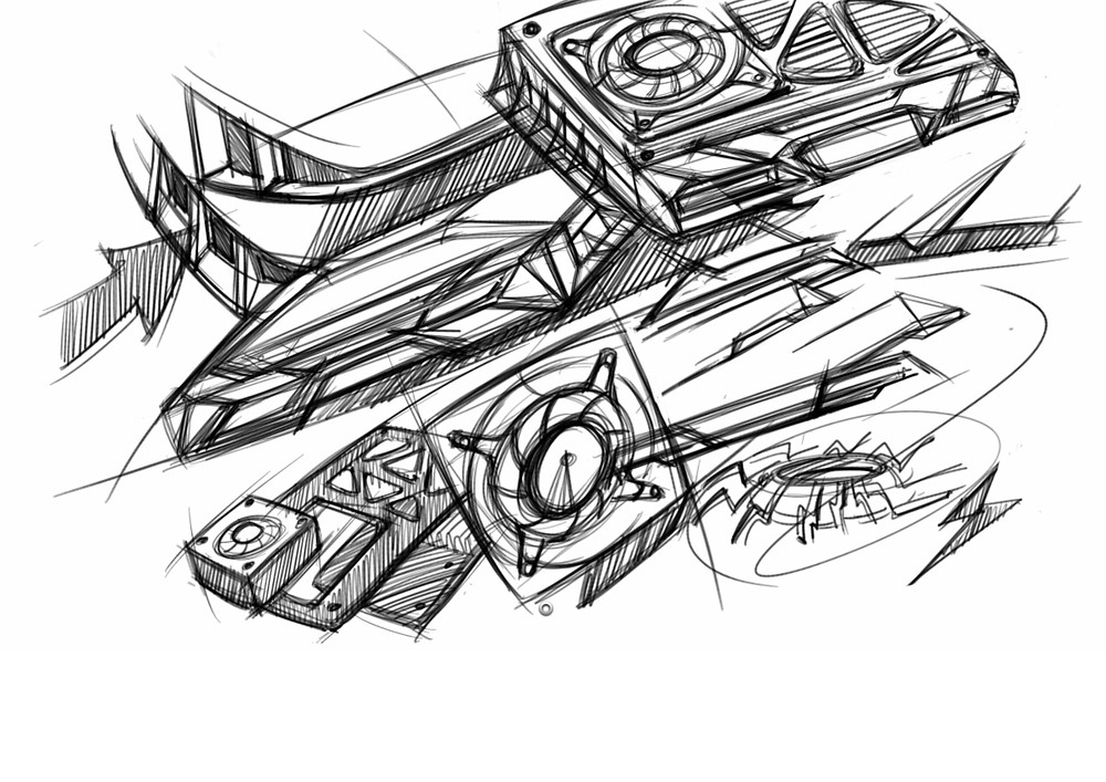 Early concept drawings from our designer.