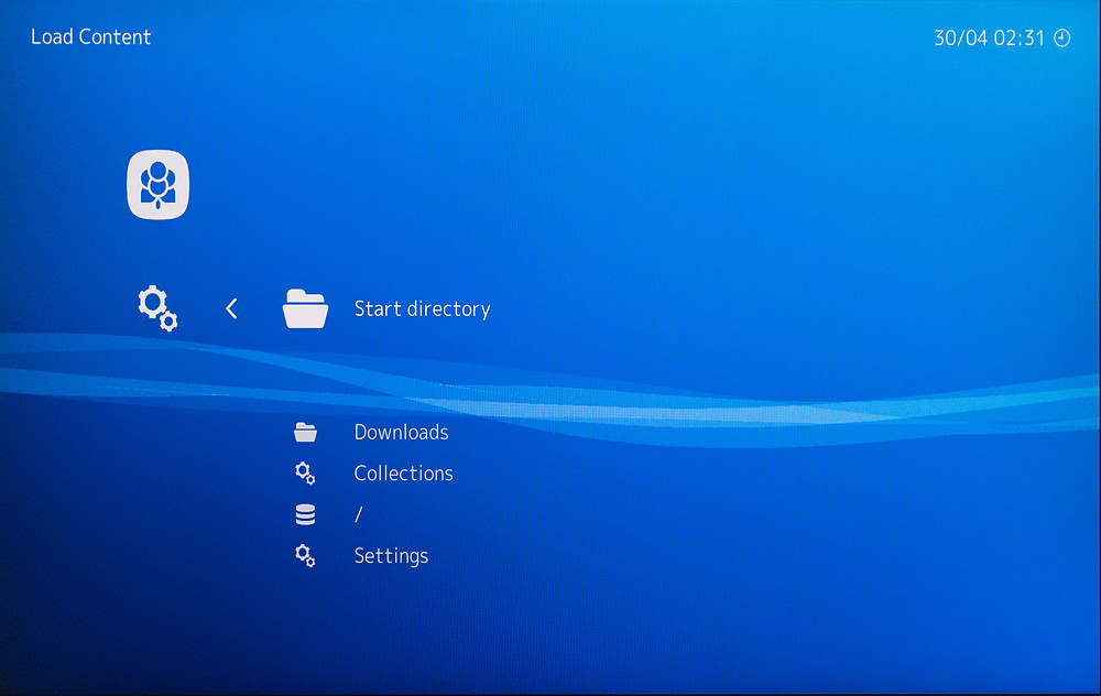 """Start directory"" with the folder icon."