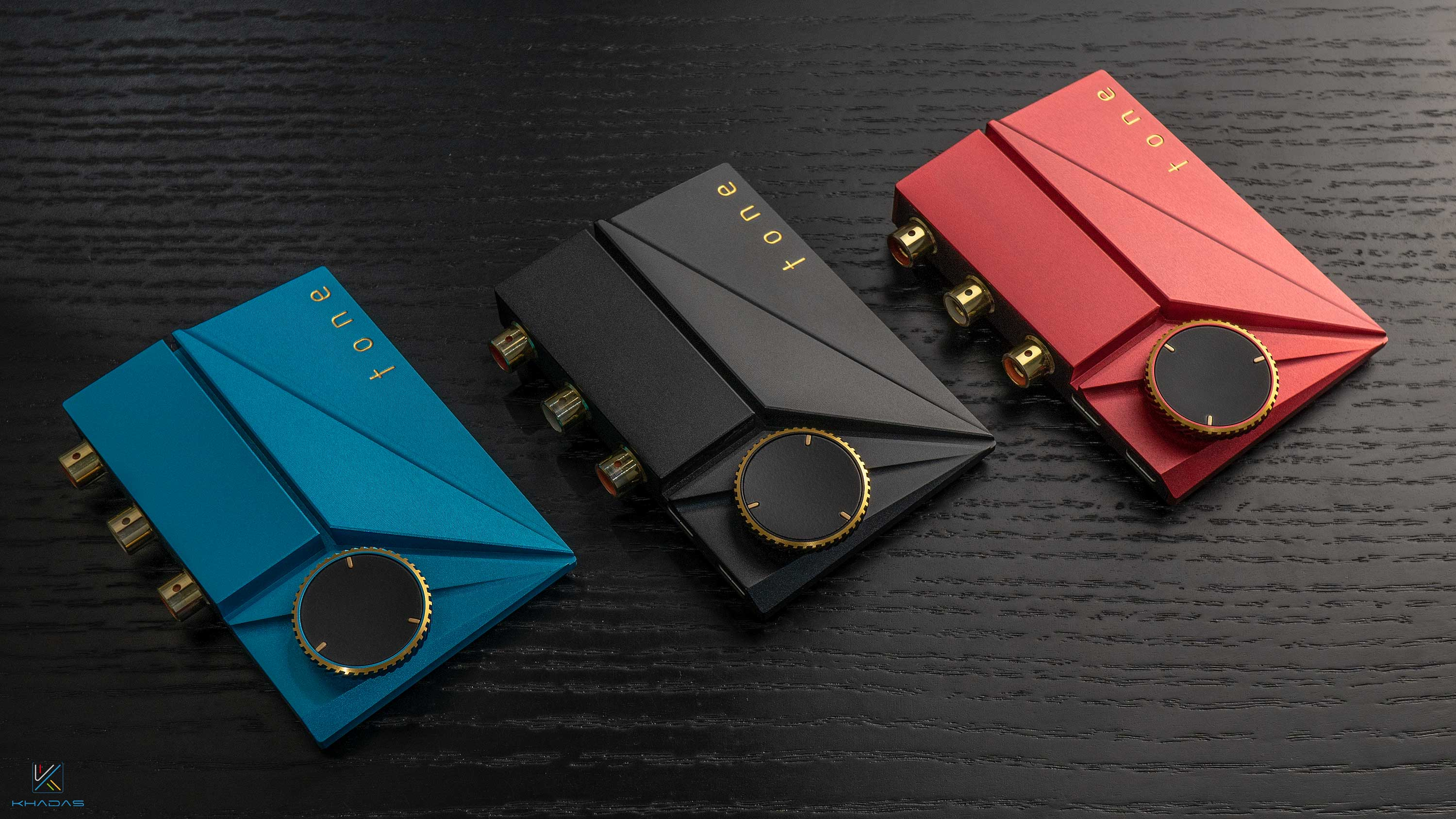 Tone2 Pro, water blue, onyx black and ruby red.