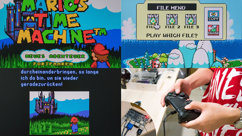 Mario's Time Machin & Yoshi's Island on the Khadas VIM1.