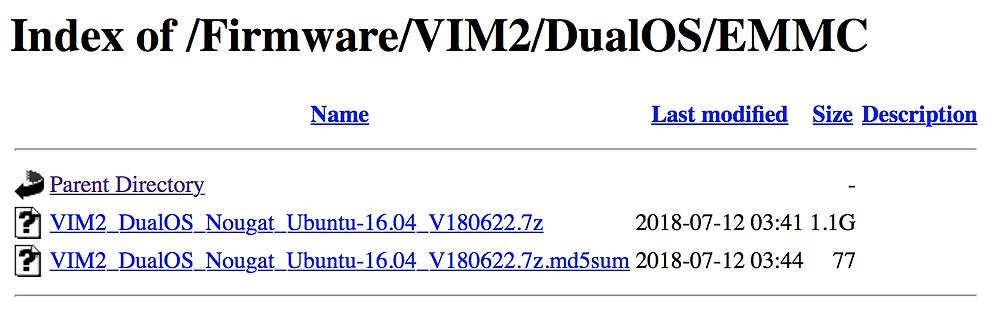 Dual Boot EMMC Image: https://dl.khadas.com/Firmware/VIM2/DualOS/EMMC/