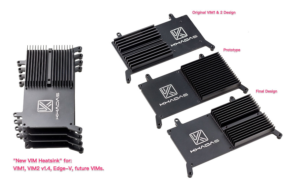 Development progression of the VIM's Heatsink.