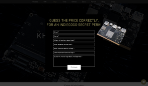 Guess the price for an Indiegogo Secret Perk