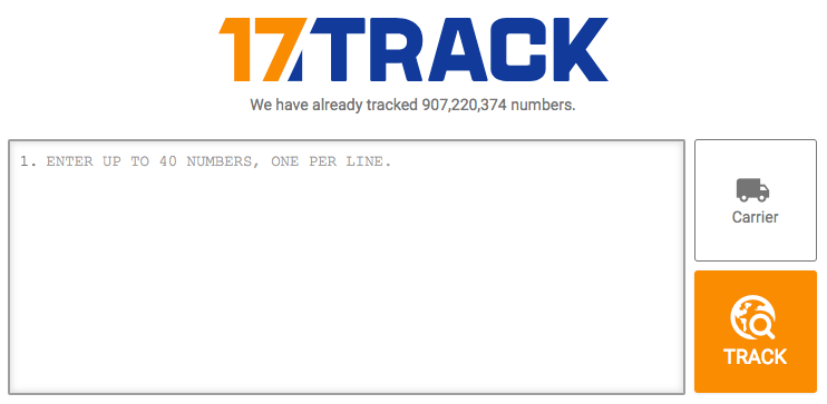 You will be able to track your packages from here: https://www.17track.net/en