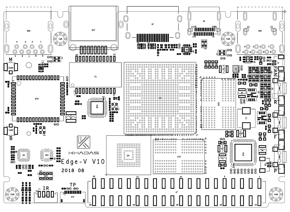 PCB Layout of the Edge-V v10. An Edge board with VIM's Form Factor.