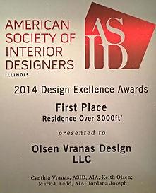 American Society of Interior Designers Award