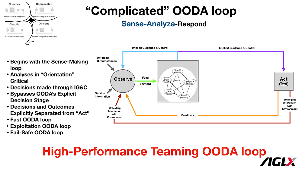 High-Performance Teaming OODA loop