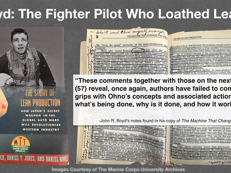 Boyd: The Fighter Pilot Who Loathed Lean?