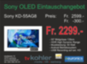 Sony OLED Neu 55AG8-Eintausch Angebot 20