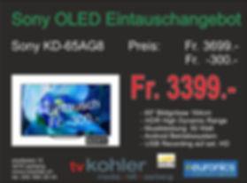 Sony OLED Neu 65AG8-Eintausch Angebot 20