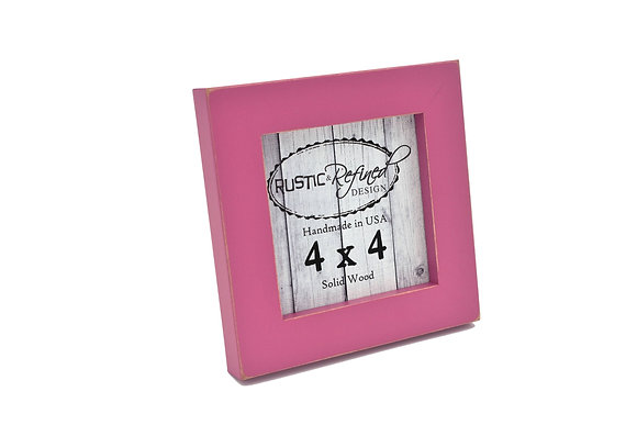 """4x4 1"""" Gallery Picture Frame - Hot Pink"""