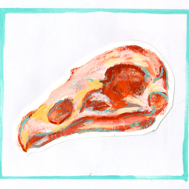 Vulture Skull Painting