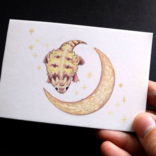 Horny Toad Mini Painting