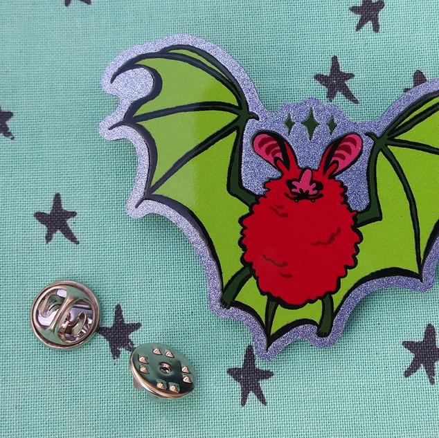 Watermelon Bat Pin