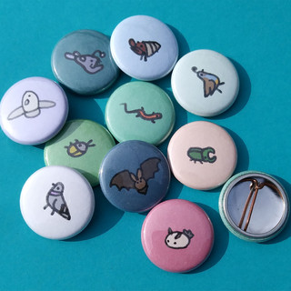 Teeny Animal Buttons