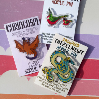 Mini Myths Acrylic Pins