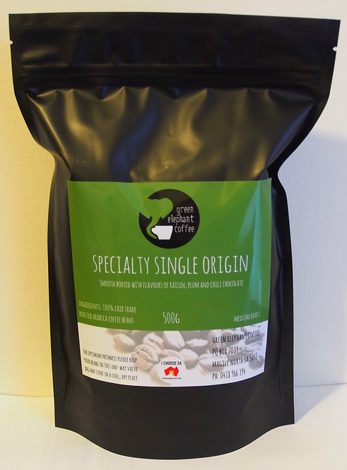 Green Elephant Speciality Single Origin beans 500g