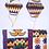 Thumbnail: Oval/Contour - White Adinkra Kente Parent & Child Mask Set