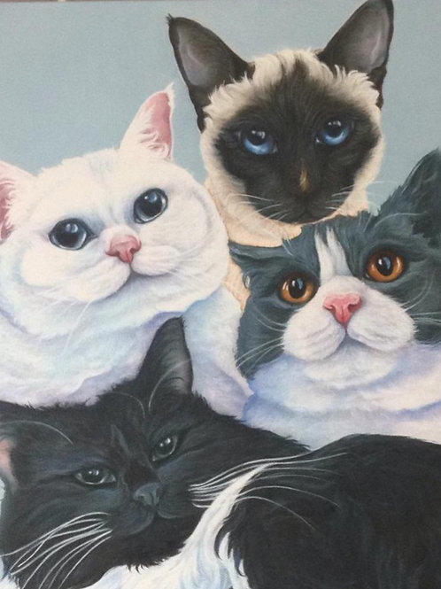 the cat painting