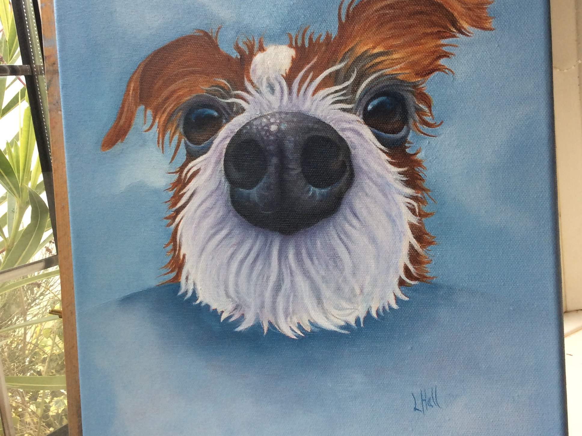 vibrant oil paintings of dogs, cats, cows animal art   \
