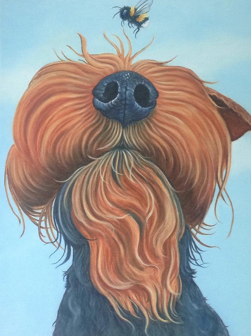 Welsh terrier painting