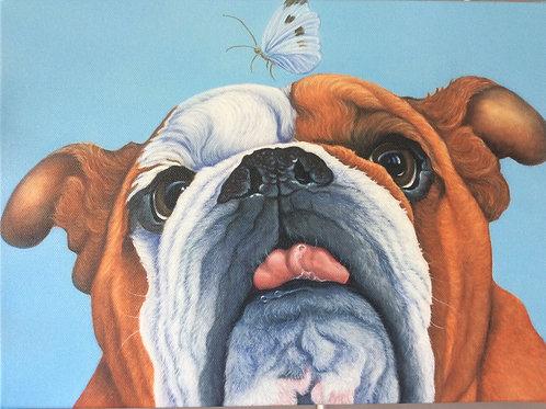 British bulldog painting