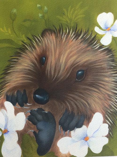 """Harriet"" the hedgehog painting"