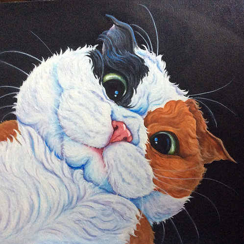 Calico cat painting
