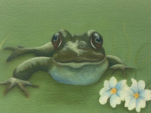 """Fly Catcher""  the frog painting"