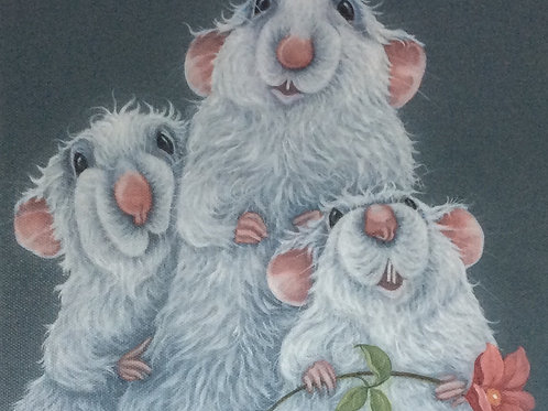 White rats painting